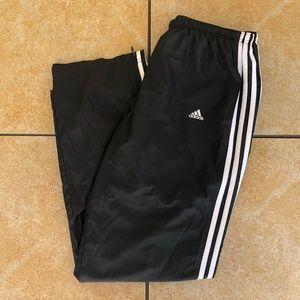 Adidas Striped Track Pants Black L